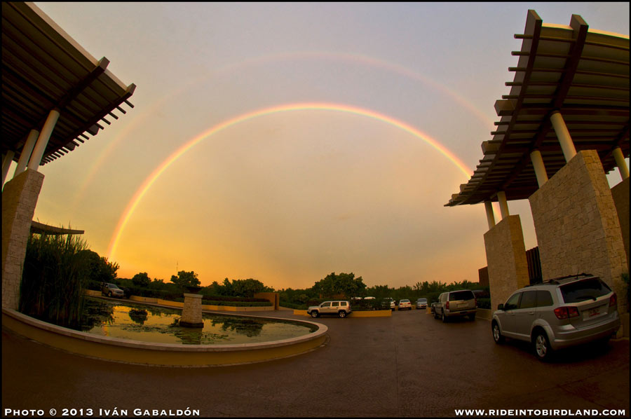 A 10.5 mm lens was needed to capture this double rainbow! (Photo © Ivan Gabaldon)