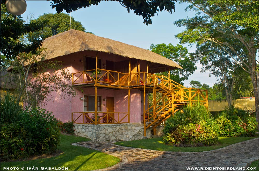 One of the two floors, four room cabins at Chicanná Ecovillage Resort. (Photo © Iván Gabaldón).