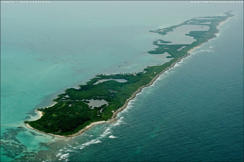 Isla Contoy, off the coast of Quintana Roo. (Photo © Ivan Gabaldon - Aerial support by Lighthawk.org for Pronatura Peninsula de Yucatán).