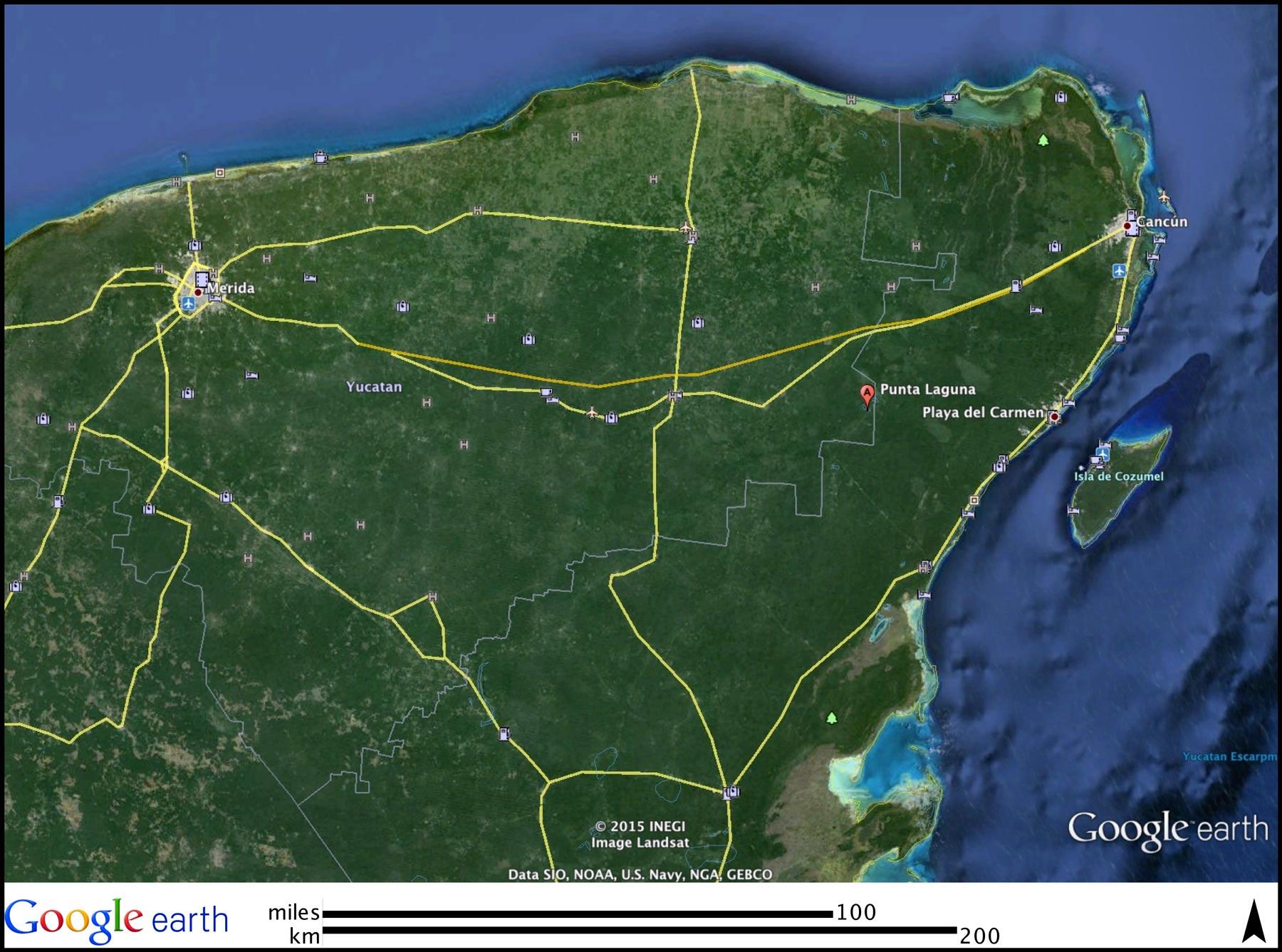 Punta_Laguna_Mapa