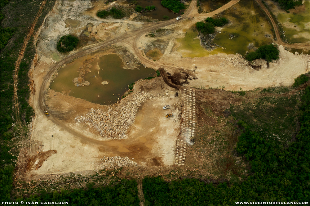 Granted, building materials must come from somewhere, but it's not a pretty sight. (Photo © Ivan Gabaldon - Aerial support provided by Lighthawk to Pronatura Peninsula de Yucatan).